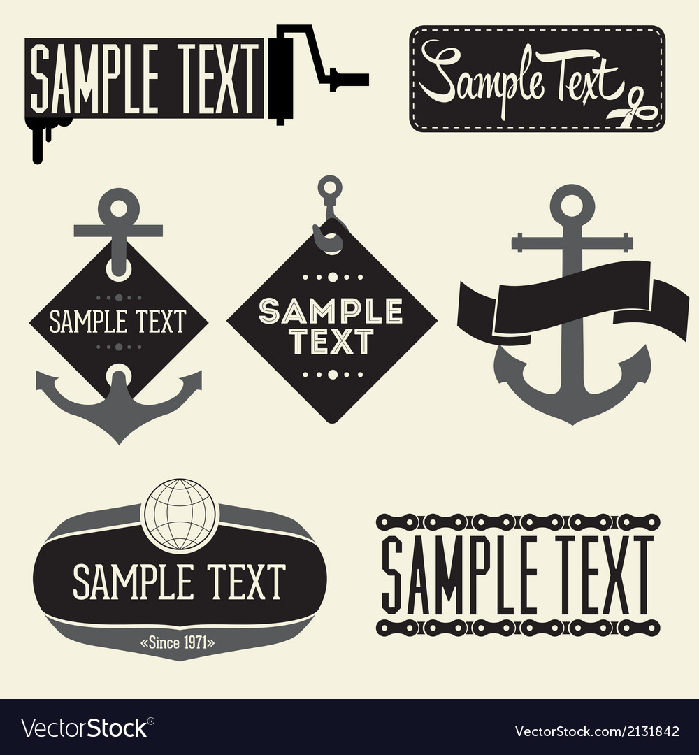 Set of vintage styled design hipster logo vector | Price: 1 Credit (USD $1)