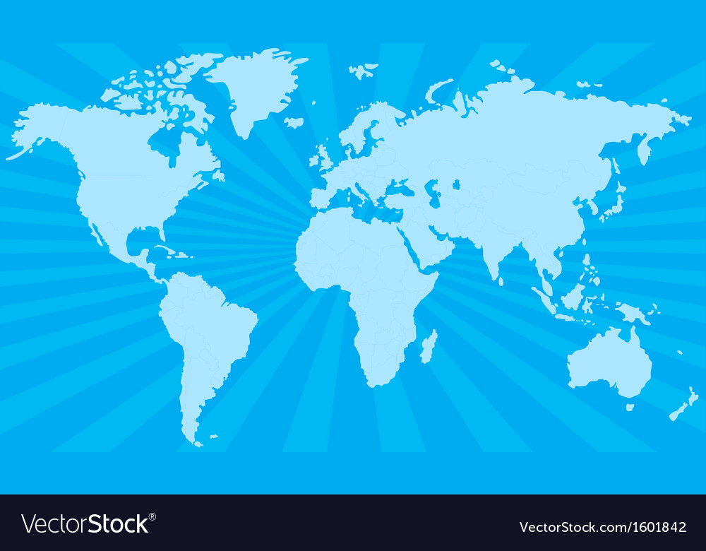 Stylized world map vector | Price: 1 Credit (USD $1)