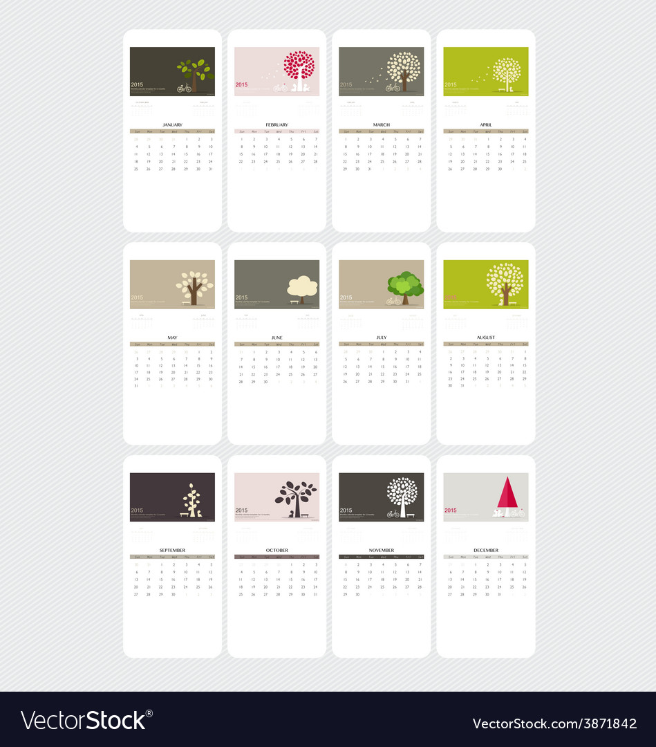 Valentines day 2015 calendar vector | Price: 1 Credit (USD $1)