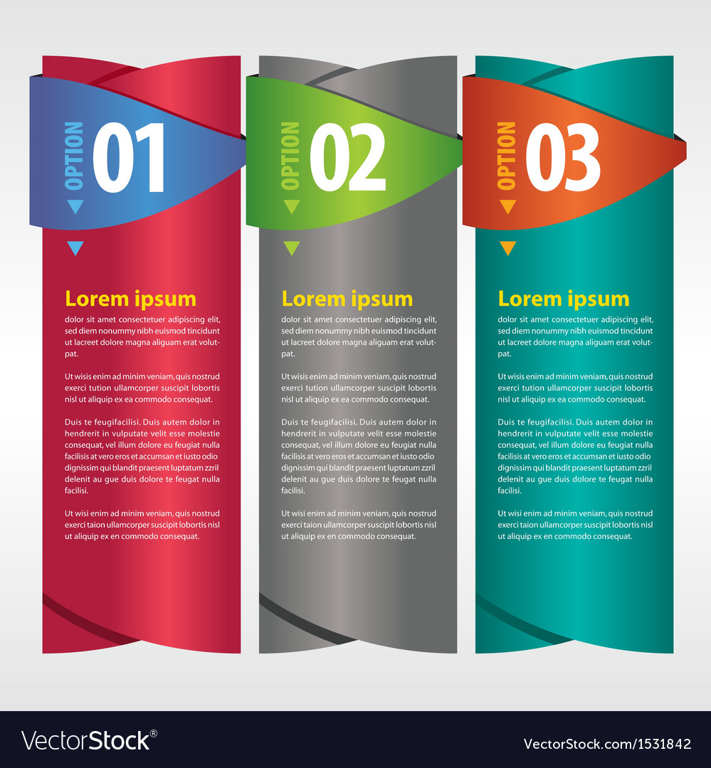 Vertical banner with number vector | Price: 1 Credit (USD $1)