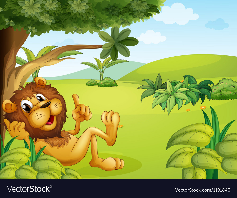 A lion taking a rest vector | Price: 1 Credit (USD $1)