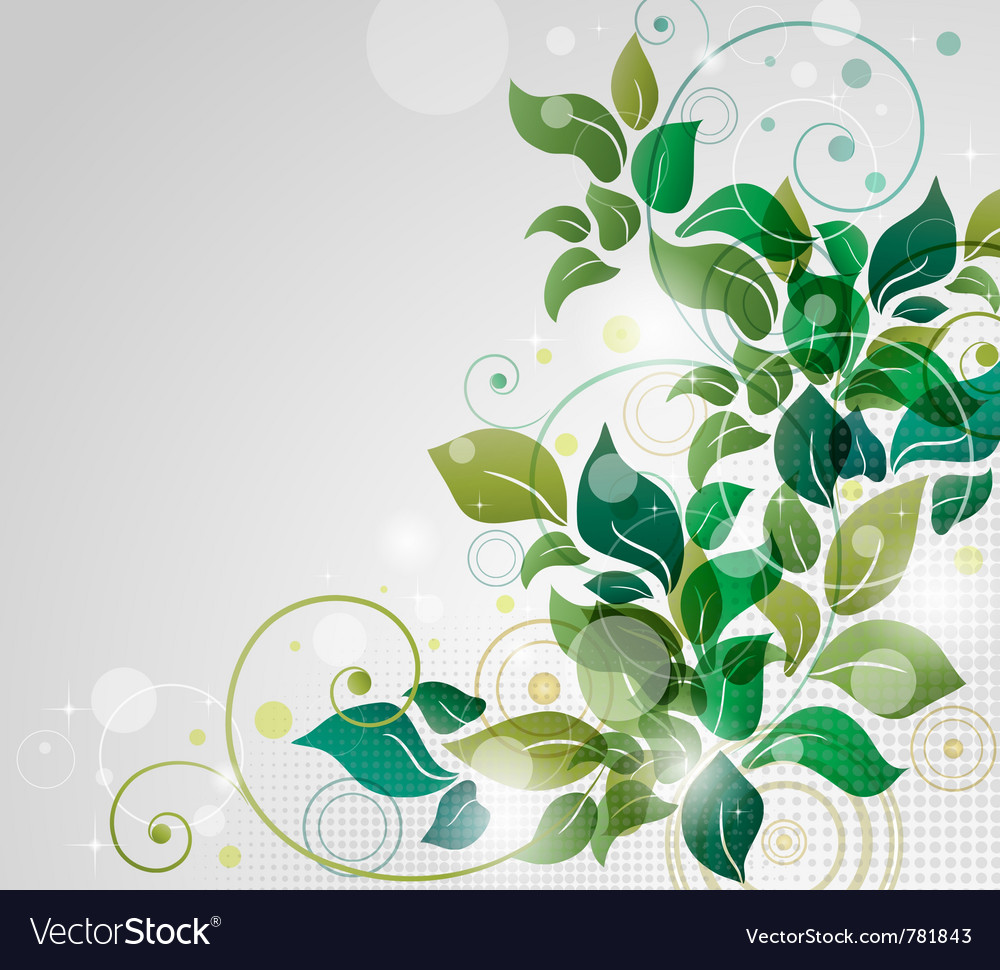 Beautiful background with flora vector | Price: 1 Credit (USD $1)