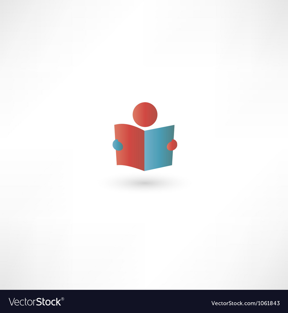 Book reader sign icon vector | Price: 1 Credit (USD $1)