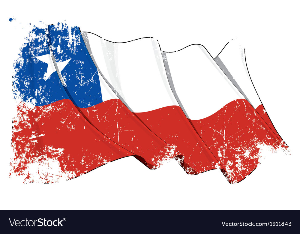 Chile flag grunge vector   Price: 1 Credit (USD $1)