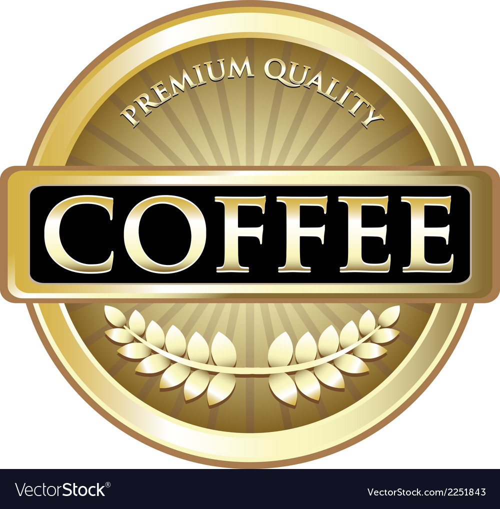 Coffee gold label vector | Price: 1 Credit (USD $1)