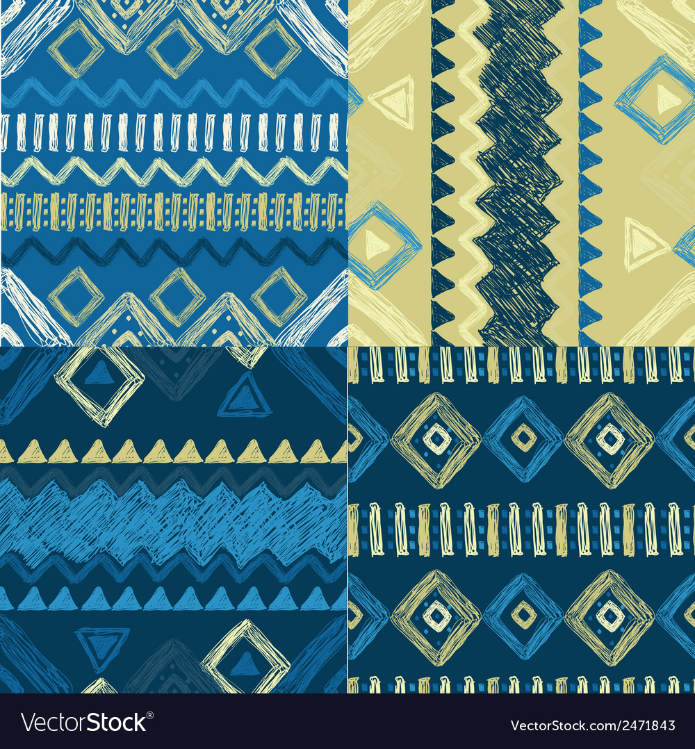 Hand drawn geometric patterns vector | Price: 1 Credit (USD $1)