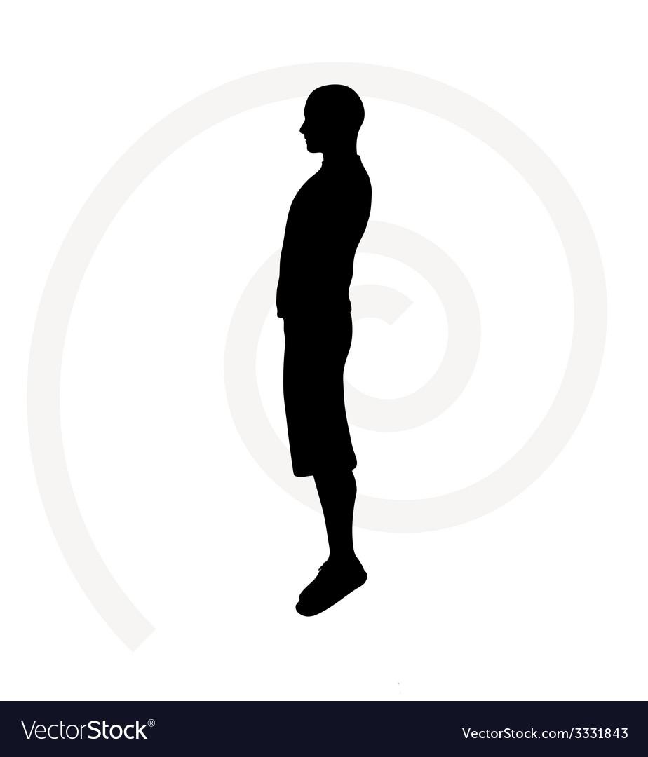 Man silhouette vector | Price: 1 Credit (USD $1)