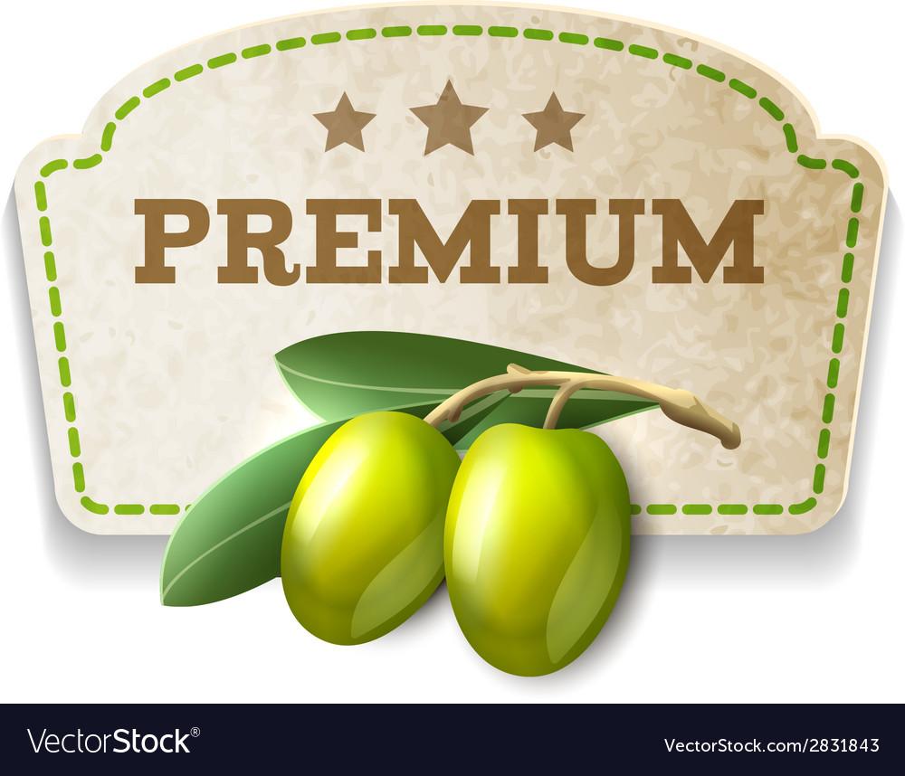 Olive kitchen badge vector   Price: 1 Credit (USD $1)