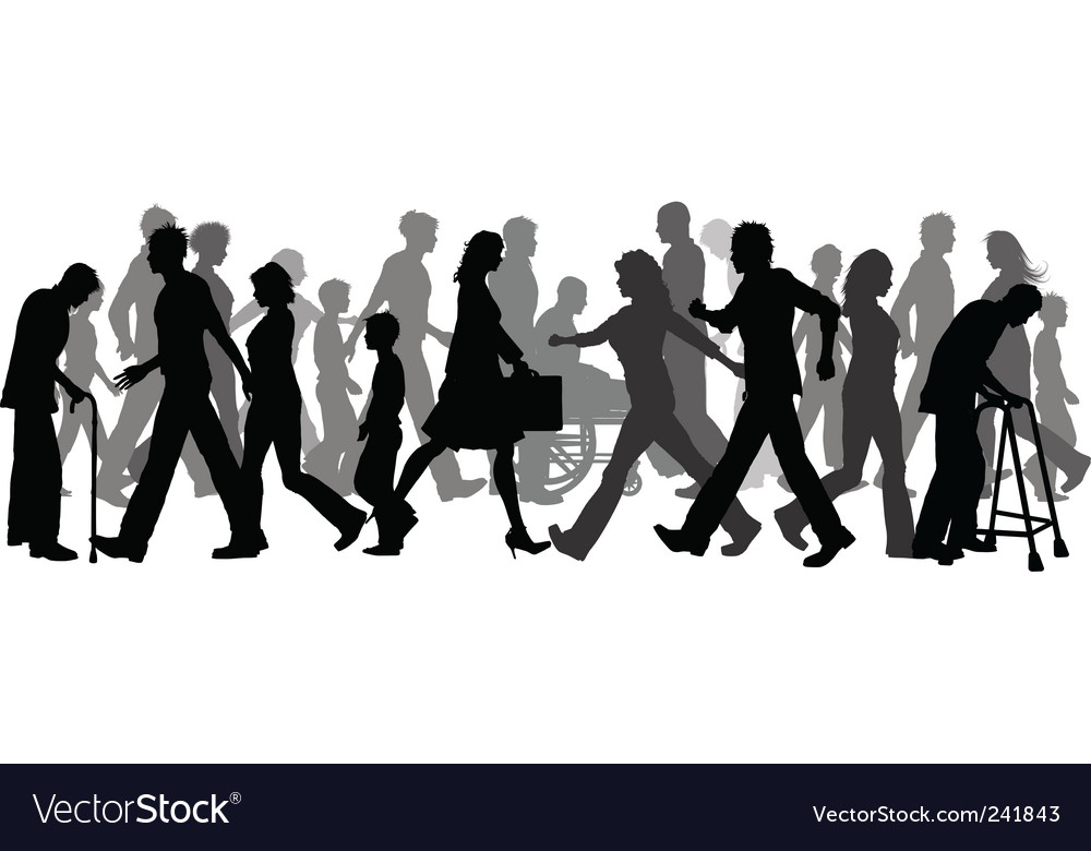 People walking vector | Price: 1 Credit (USD $1)