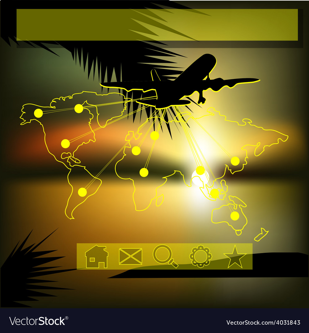 Template with aircraft vector | Price: 1 Credit (USD $1)