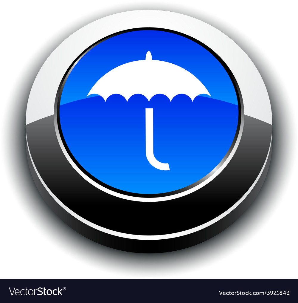 Umbrella 3d round button vector | Price: 1 Credit (USD $1)