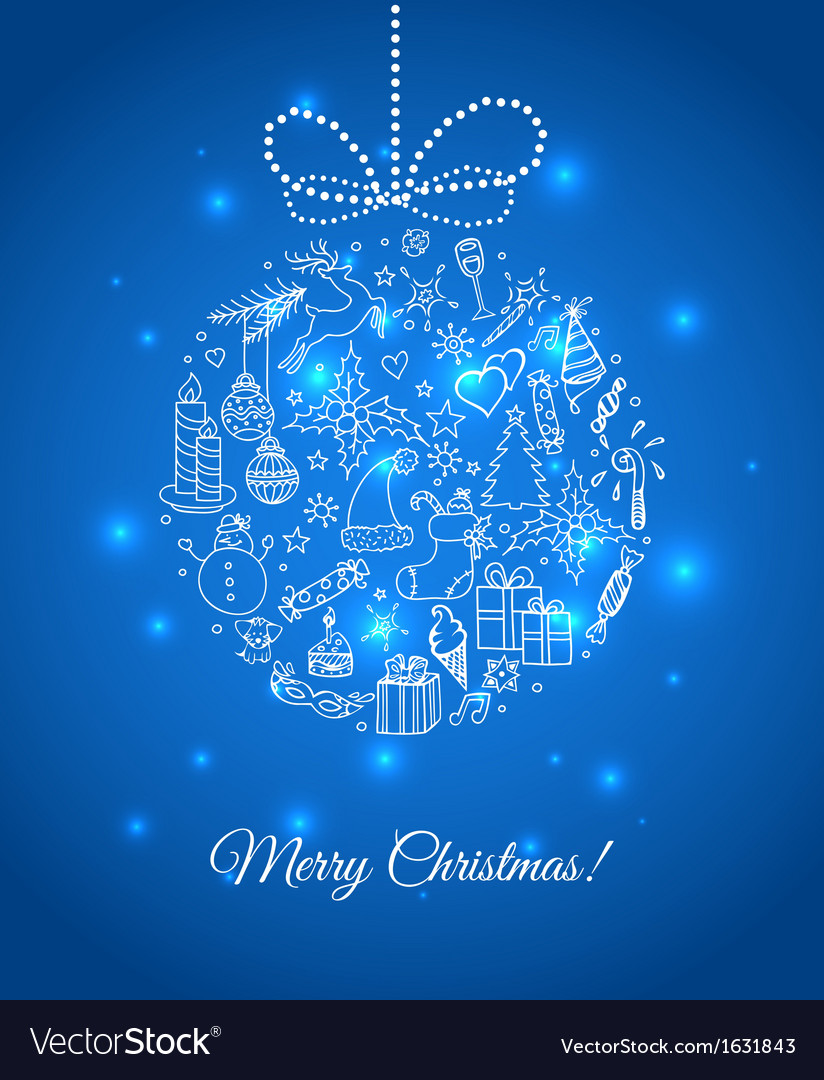 Xmas doodle ball vector | Price: 1 Credit (USD $1)