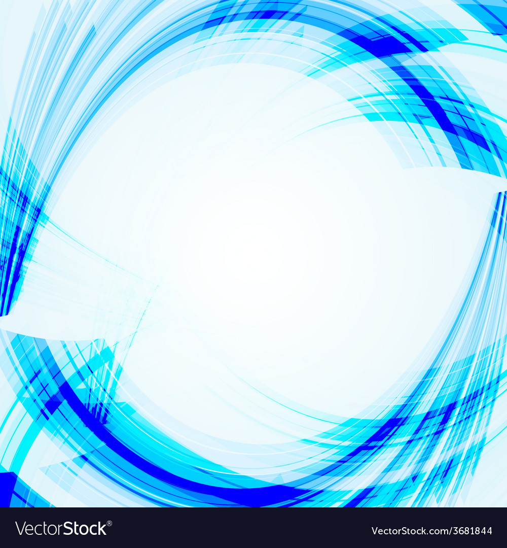 Abstract blue background with bent lines vector | Price: 1 Credit (USD $1)