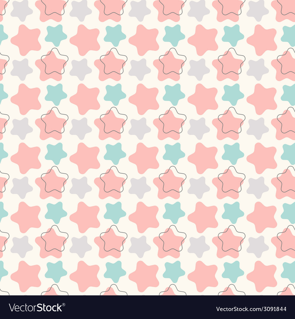 Abstract geometric retro star seamless pattern vector | Price: 1 Credit (USD $1)
