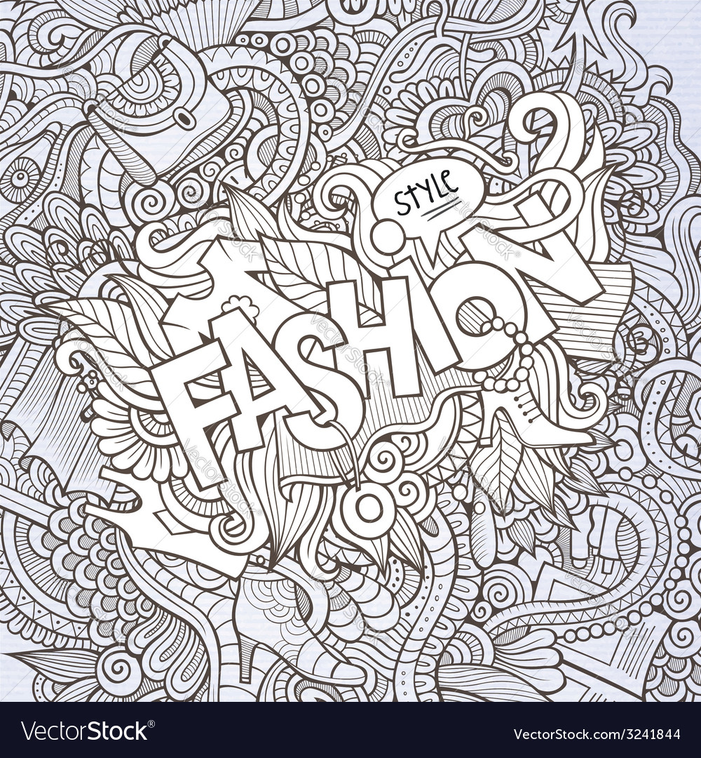 Fashion hand lettering and doodles elements vector | Price: 1 Credit (USD $1)