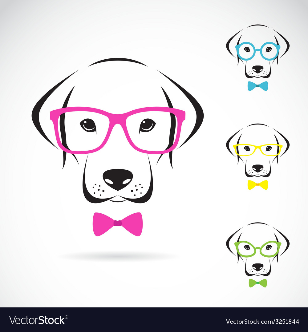 Images of dog labrador wearing glasses vector | Price: 1 Credit (USD $1)