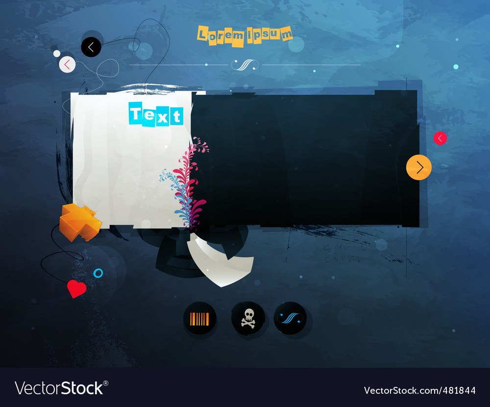 Page design vector | Price: 1 Credit (USD $1)