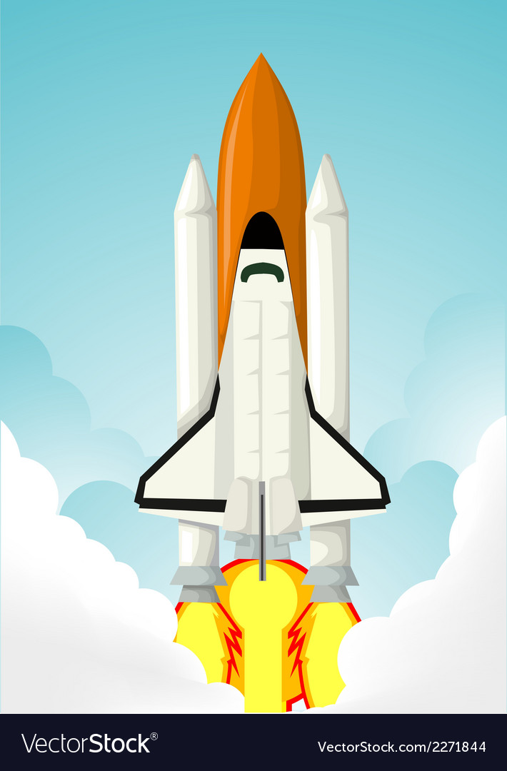 Rocket launch vector | Price: 1 Credit (USD $1)