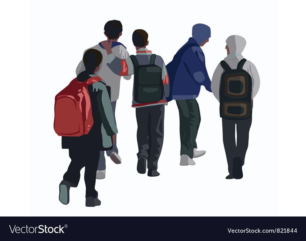 Schoolboys vector   Price: 1 Credit (USD $1)