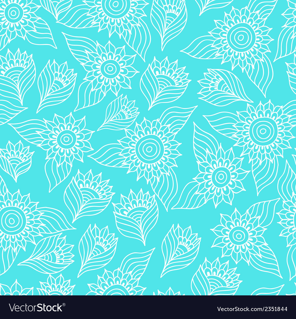 Seamless floral pattern with lace ornament vector | Price: 1 Credit (USD $1)