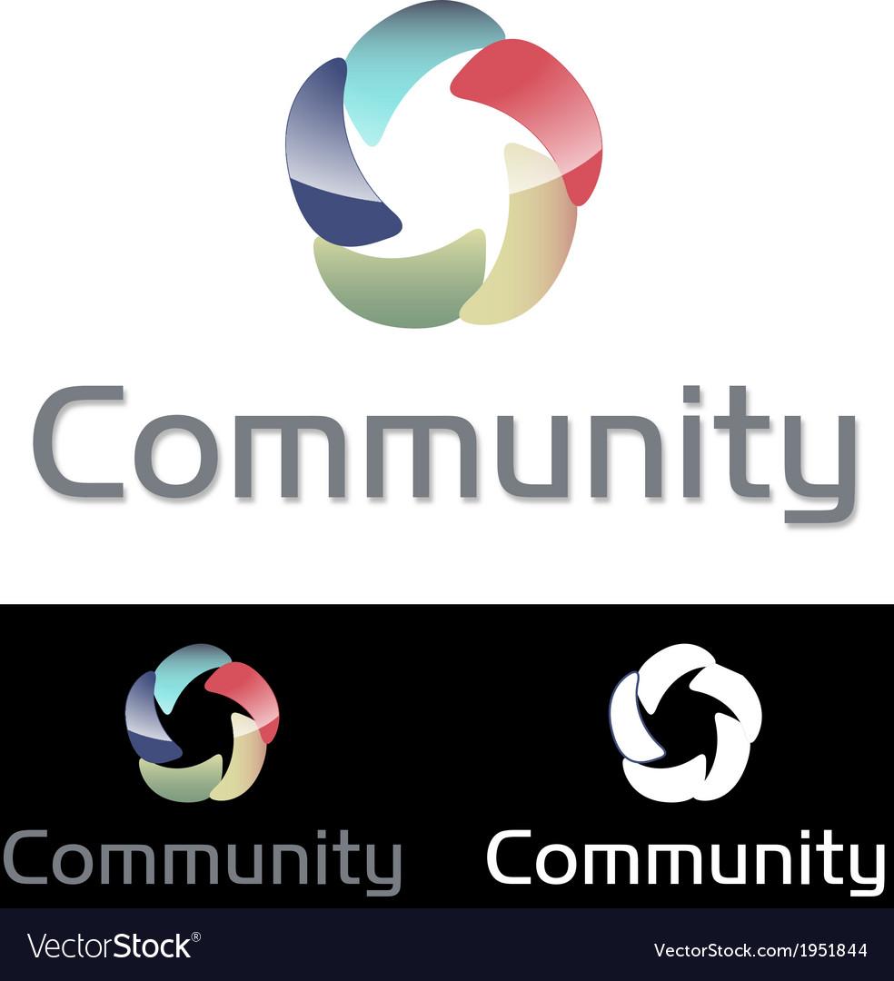 Social media community icon logo vector | Price: 1 Credit (USD $1)