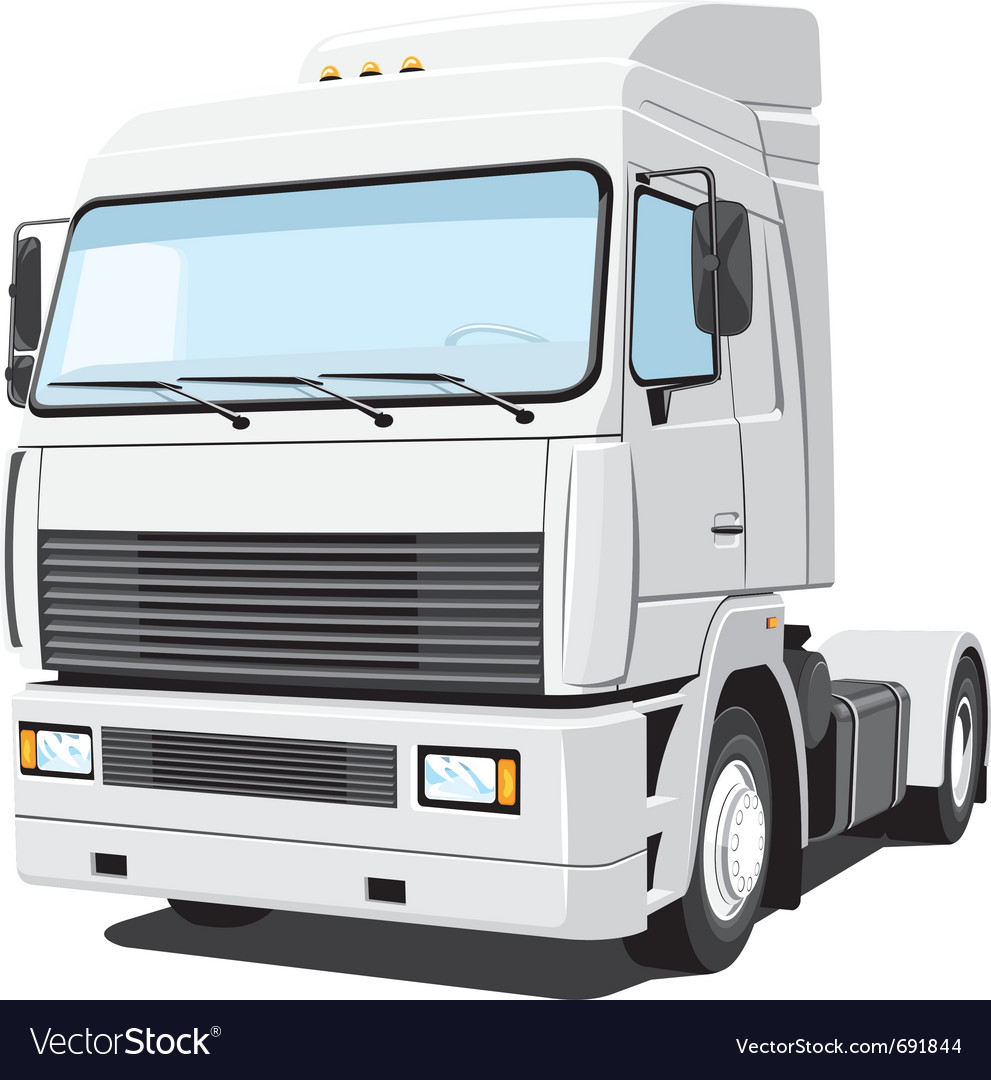White truck vector | Price: 3 Credit (USD $3)