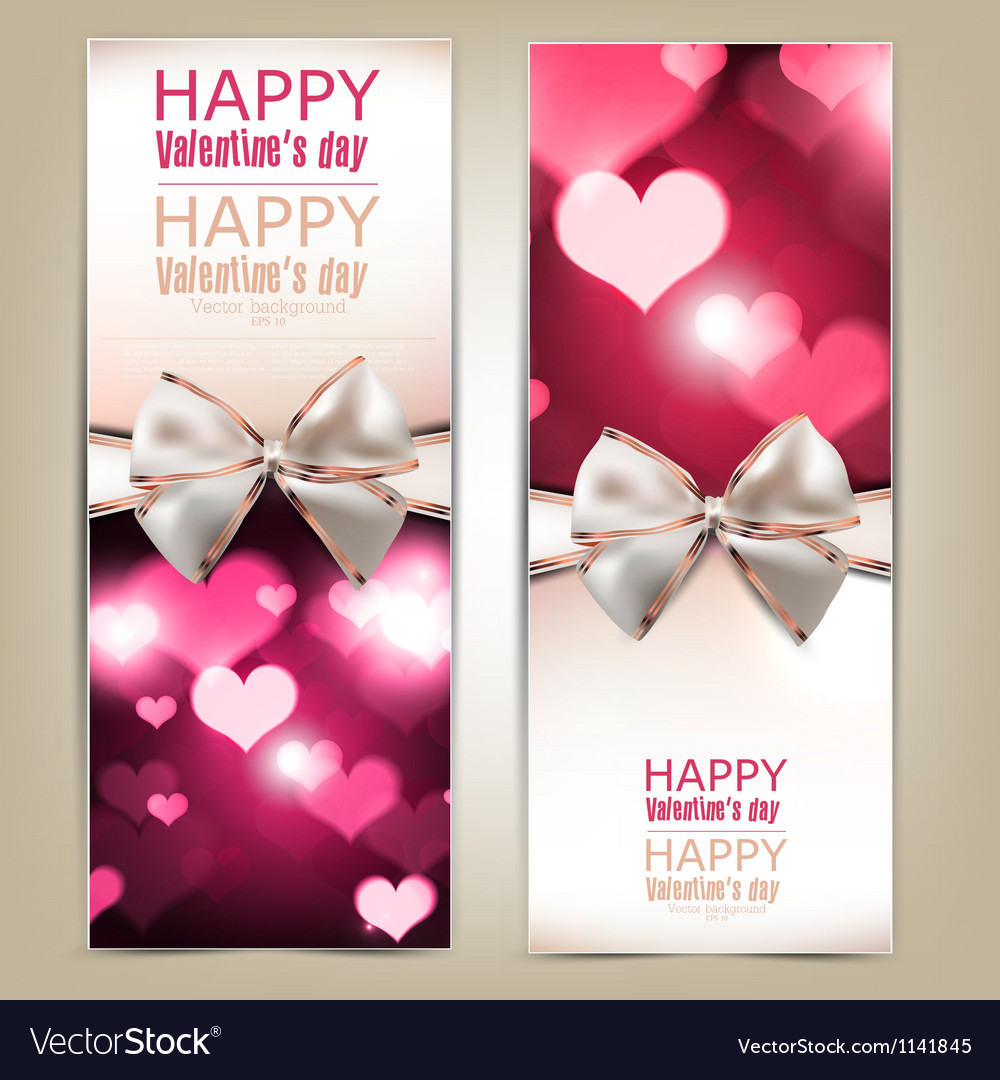 Beautiful greeting cards with white bows and copy vector | Price: 1 Credit (USD $1)