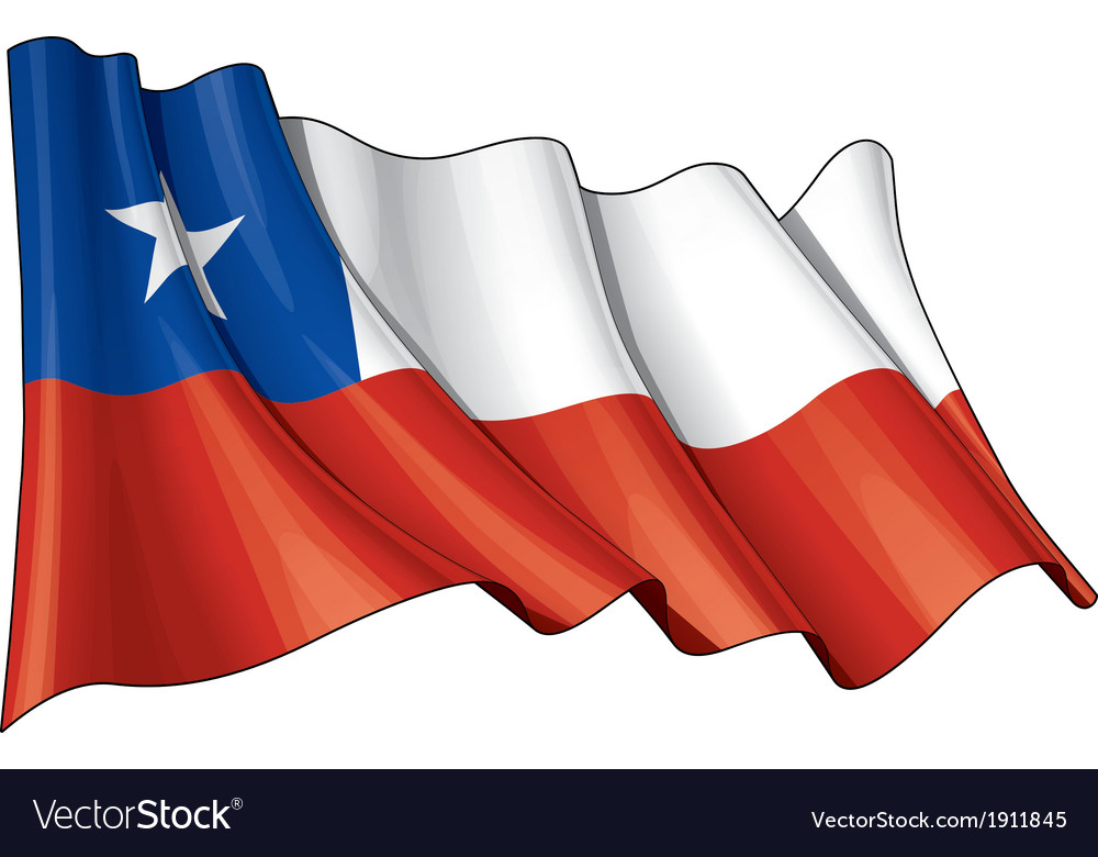 Chile flag vector | Price: 1 Credit (USD $1)