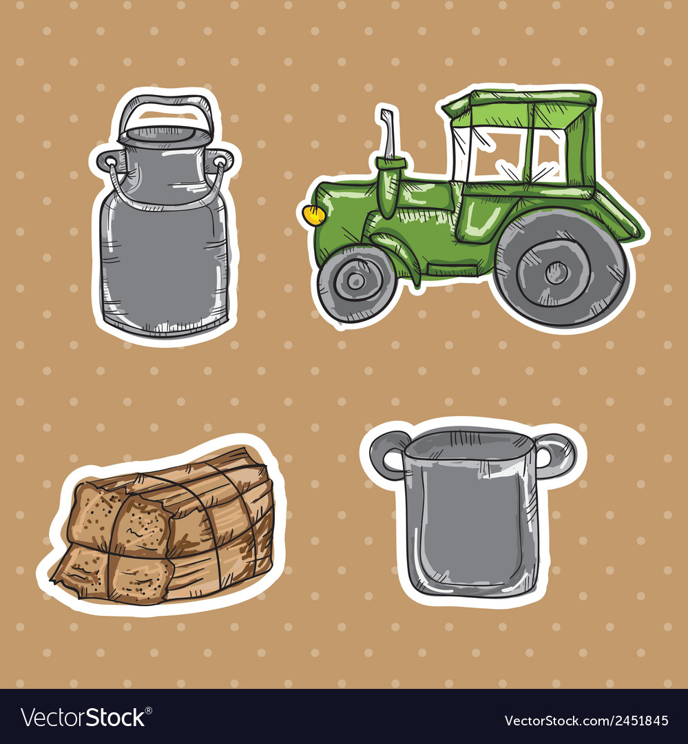 Farm icons vector | Price: 1 Credit (USD $1)