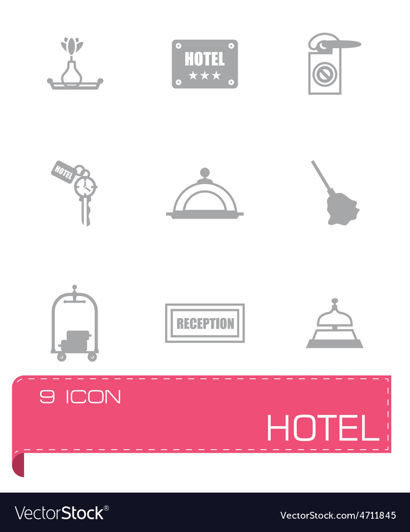 Hotel icon set vector | Price: 1 Credit (USD $1)