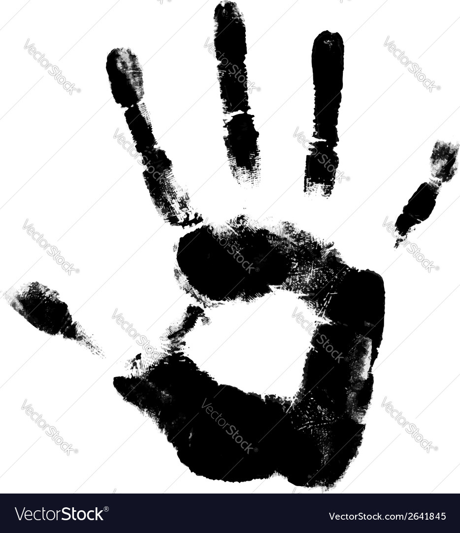 Human hand print vector | Price: 1 Credit (USD $1)