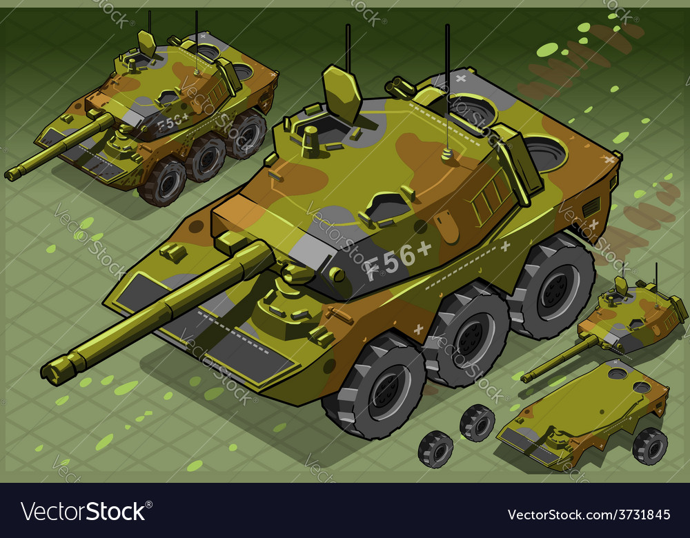 Isometric tank two version vector | Price: 3 Credit (USD $3)