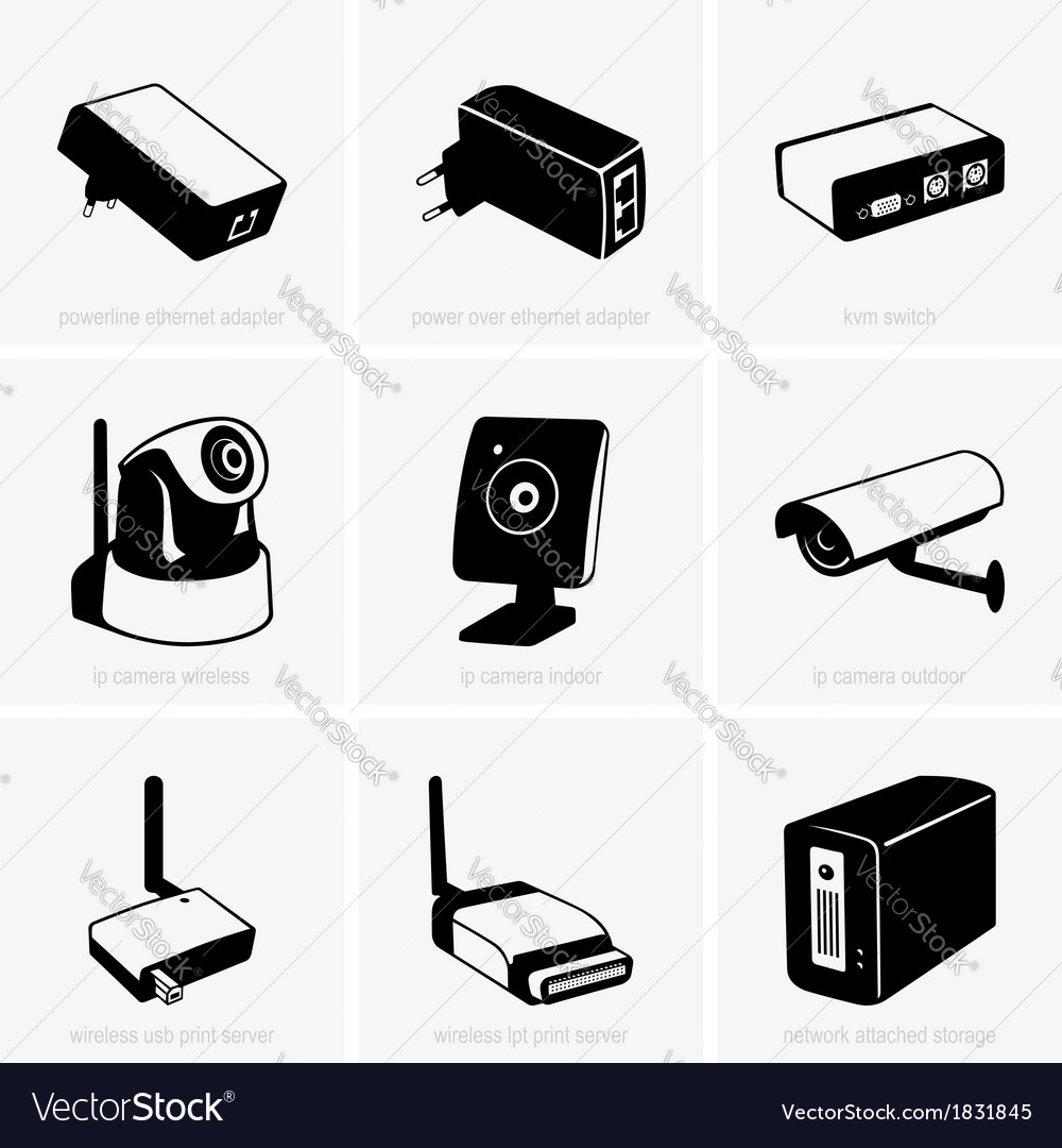 Network equipment vector | Price: 1 Credit (USD $1)