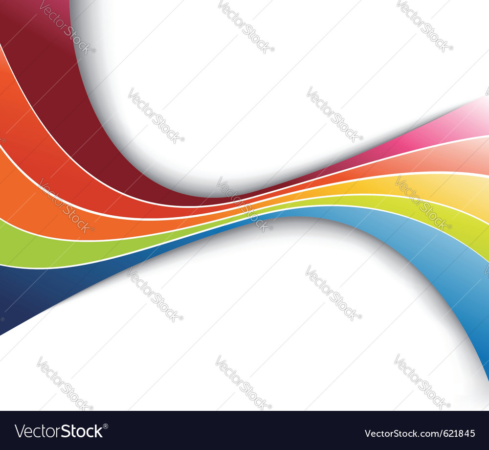 Rainbow refreshing abstract wave vector | Price: 1 Credit (USD $1)