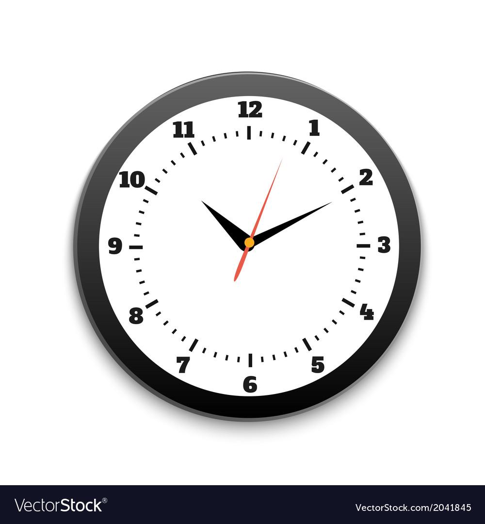 Round office clock vector | Price: 1 Credit (USD $1)