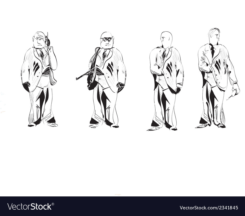 Security guys vector | Price: 1 Credit (USD $1)