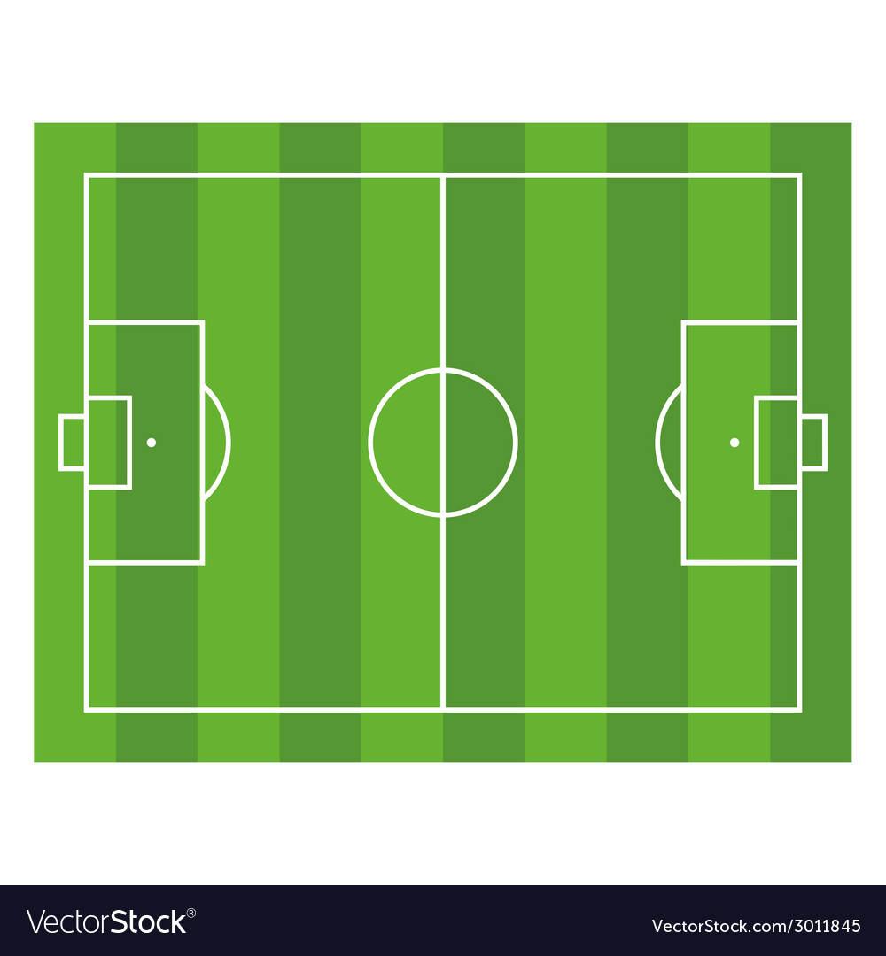 Soccer field top view football green stadium vector | Price: 1 Credit (USD $1)