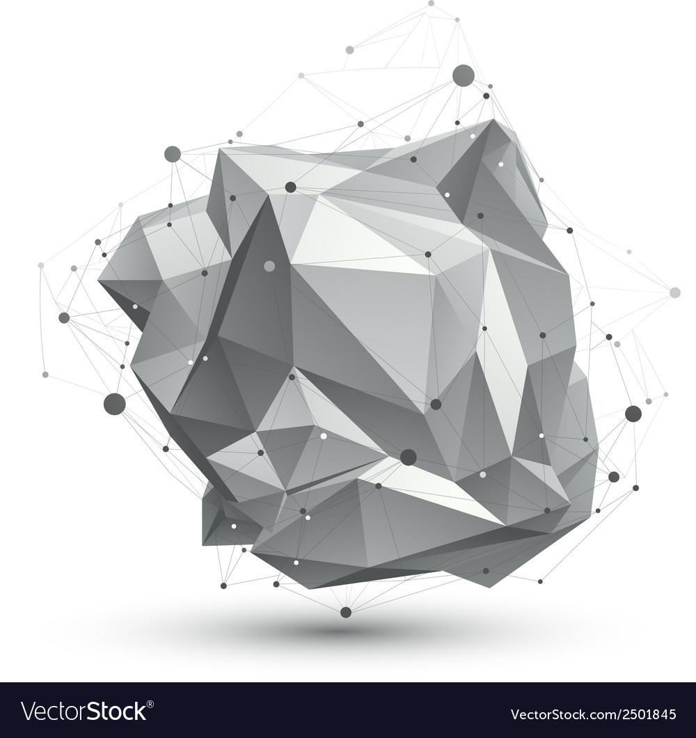 Spatial technological shape polygonal single color vector | Price: 1 Credit (USD $1)