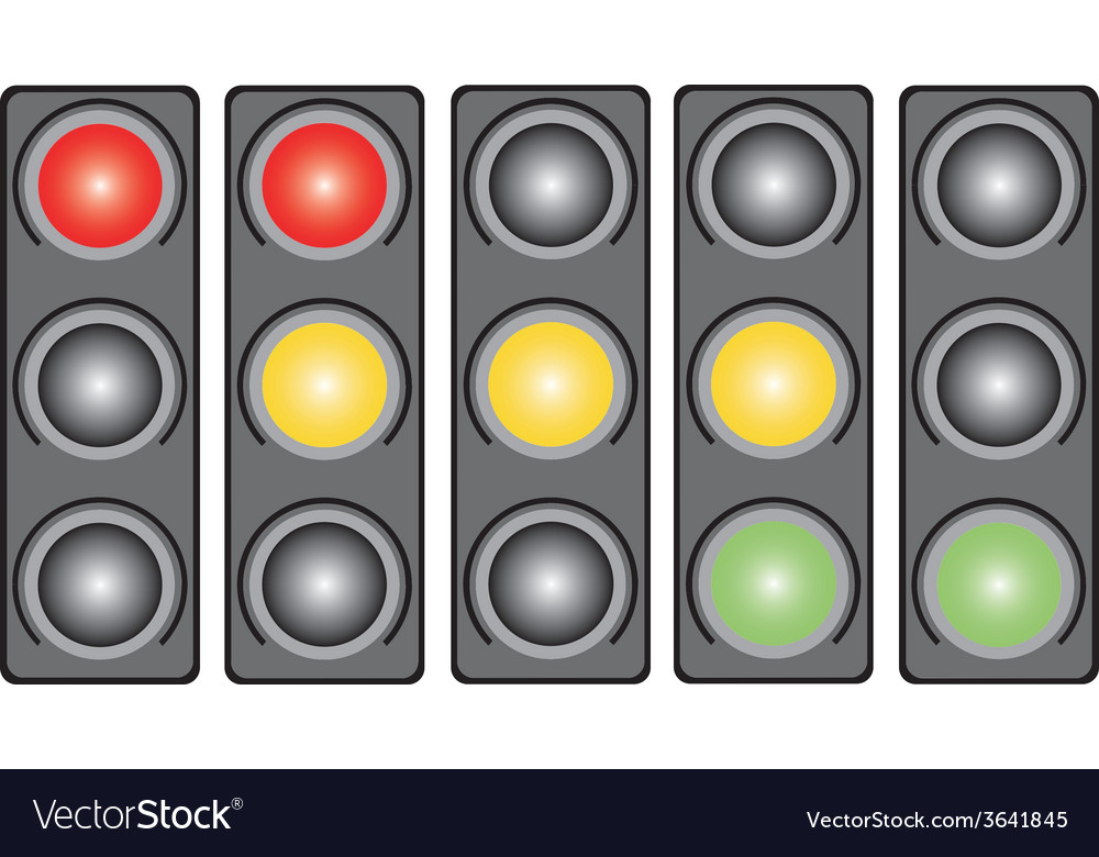 Traffic light with a light vector | Price: 1 Credit (USD $1)