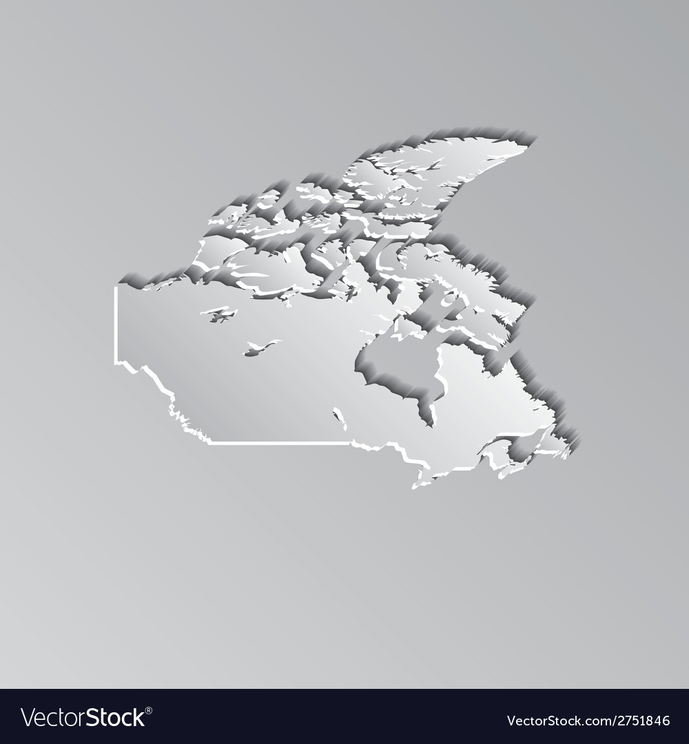 Canada map vector | Price: 1 Credit (USD $1)