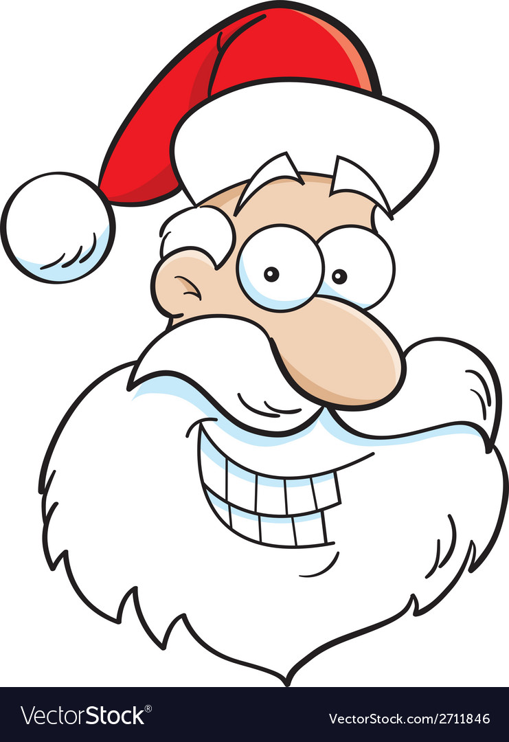 Cartoon santa claus head vector | Price: 1 Credit (USD $1)