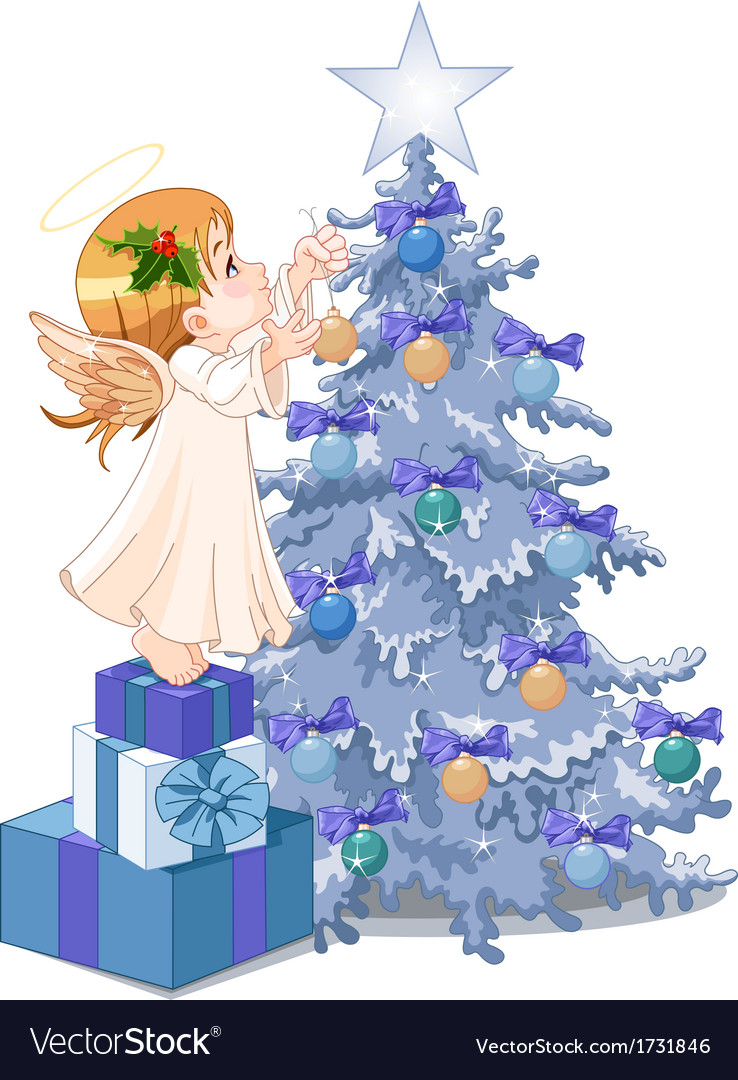 Christmas cute angel vector | Price: 3 Credit (USD $3)