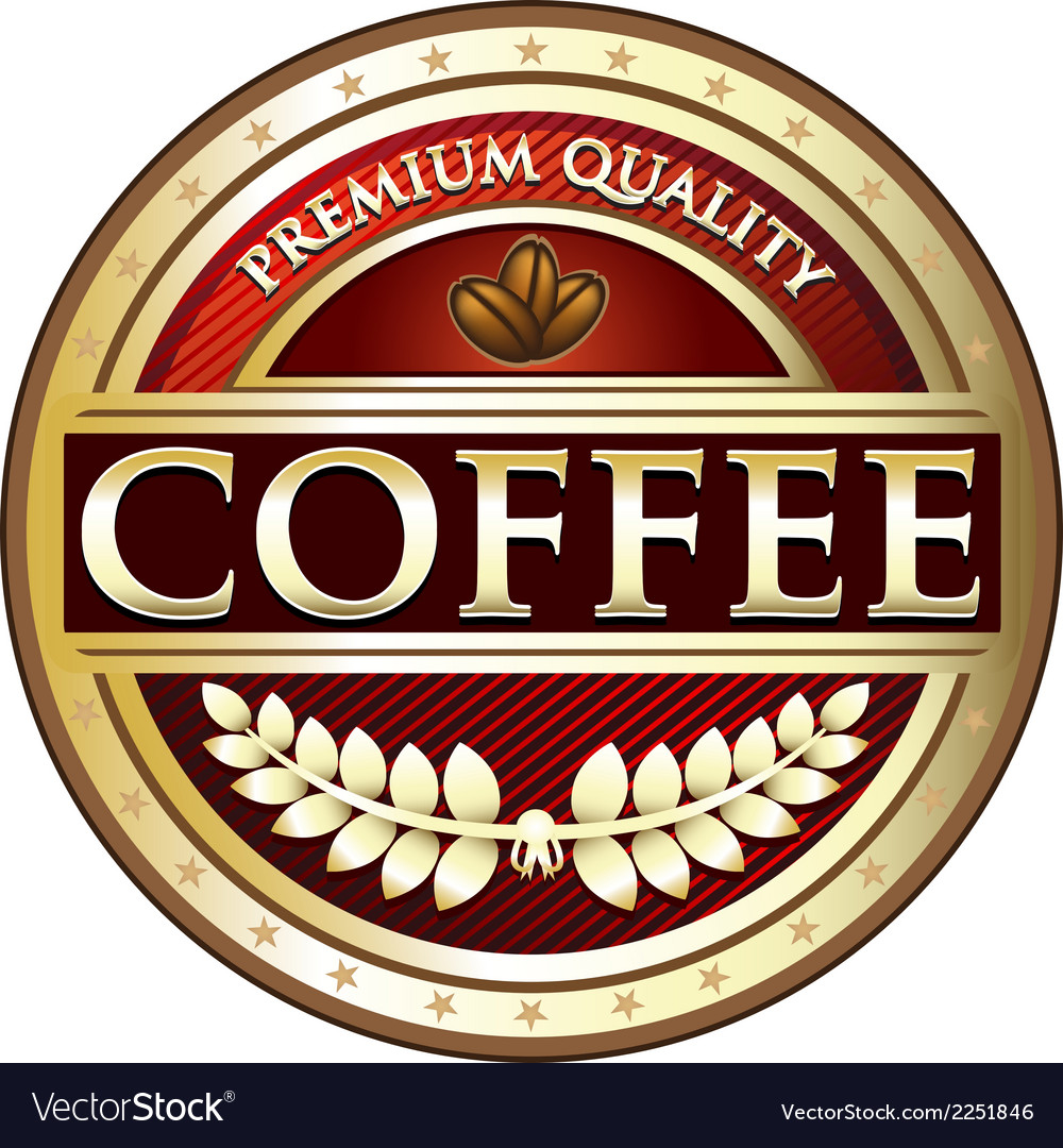 Coffee premium quality red label vector | Price: 1 Credit (USD $1)