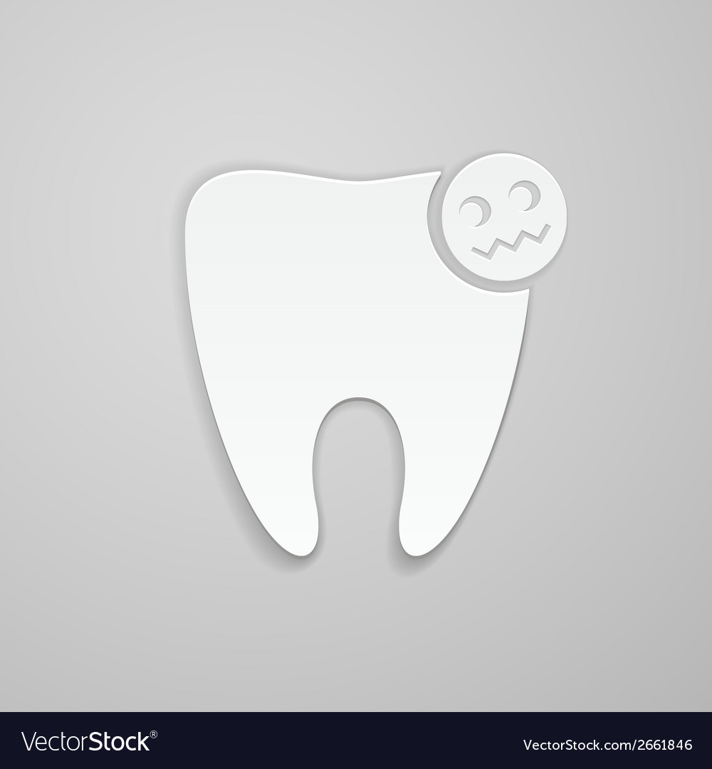 Damaged tooth vector | Price: 1 Credit (USD $1)