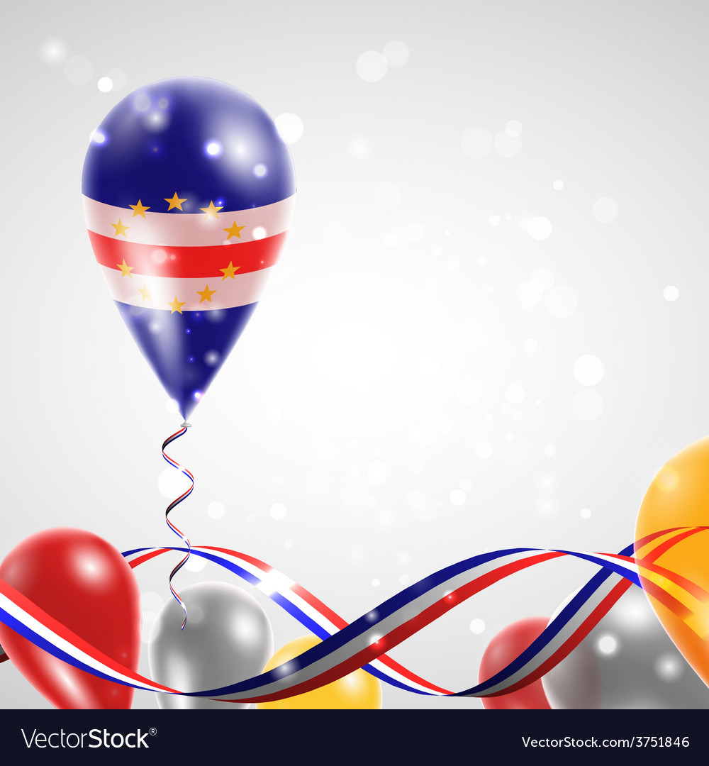 Flag of cape verde on balloon vector | Price: 1 Credit (USD $1)