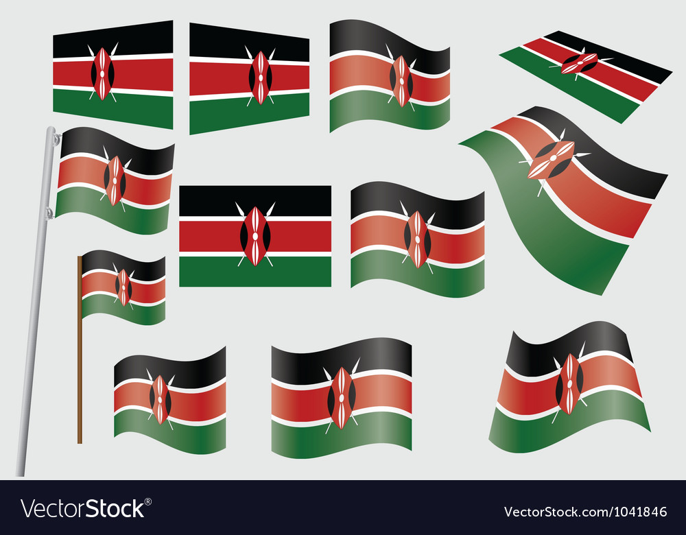 Flag of kenya vector | Price: 1 Credit (USD $1)