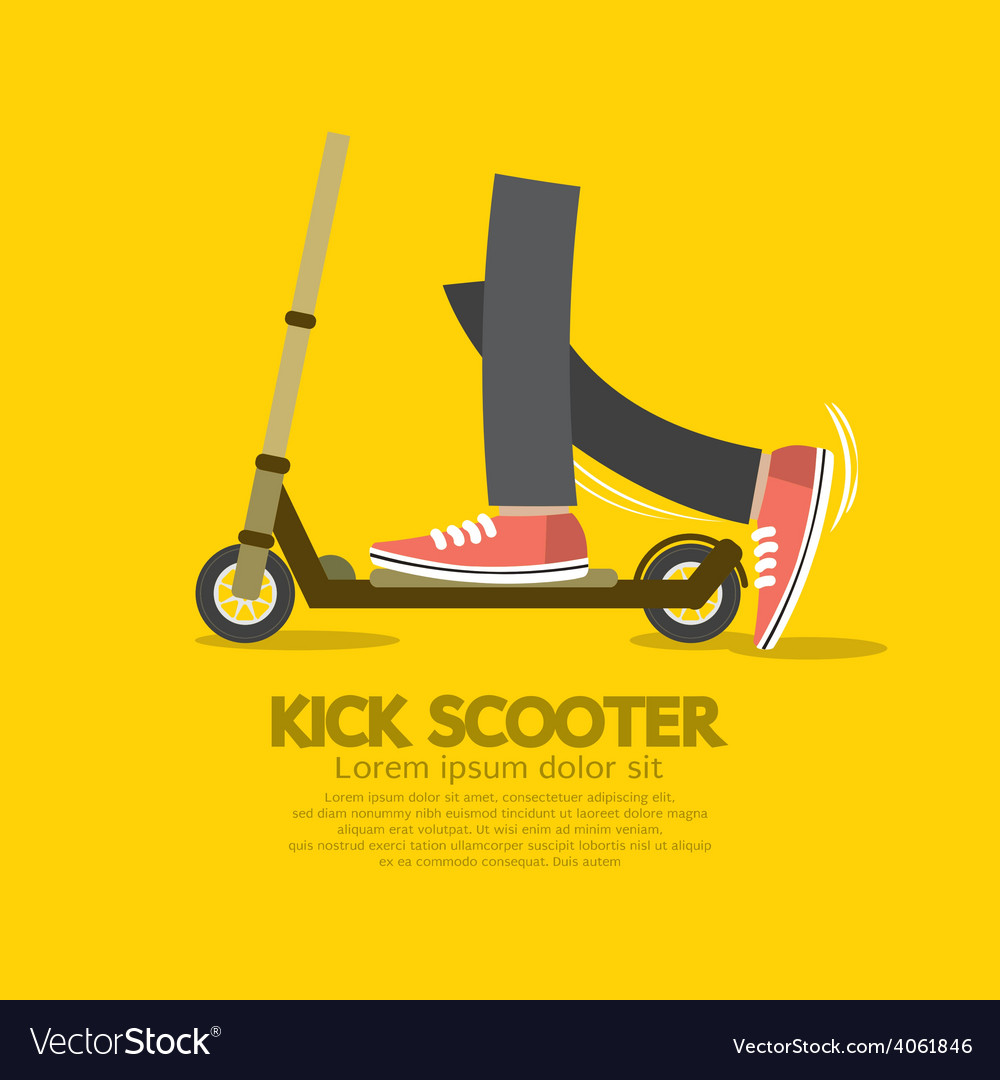 Flat design kick scooter vector | Price: 1 Credit (USD $1)