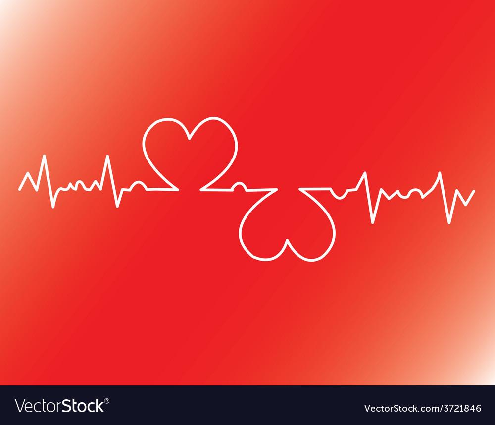 Heart beats cardiogram vector   Price: 1 Credit (USD $1)