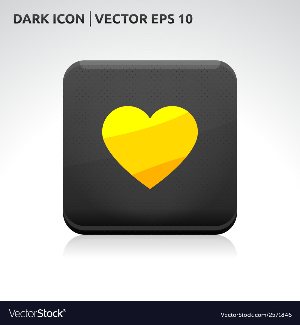 Heart icon gold vector | Price: 1 Credit (USD $1)