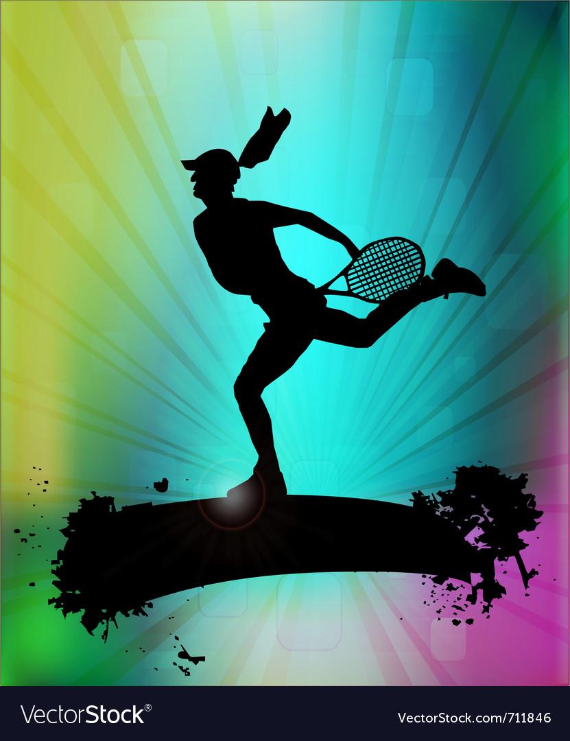 Modern tennis vector | Price: 1 Credit (USD $1)